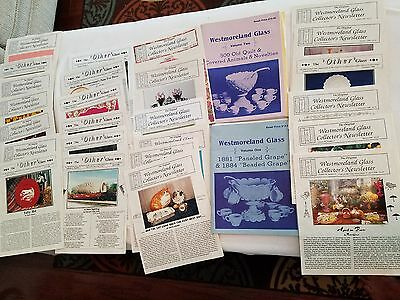 2 Westmoreland Vol I & Ii Books And 15+ Collectors Other Glass Newsletter W Pics