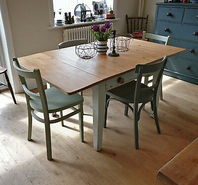 Victorian pine table, Kitchen table, dining table, kitchen island (1160)