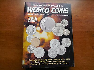 2001 Standard Catalog of World Coins  28th Edition-used