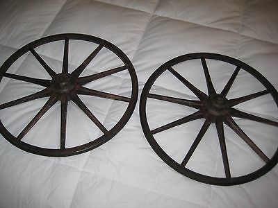 Early Wooden Carriage  Wheels
