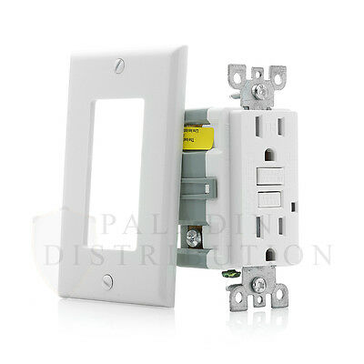 15A Amp GFCI GFI Tamper Resistant Safety Outlet Receptacle w/ LED - UL Listed TR