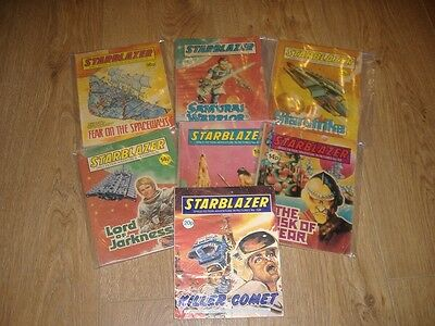 Starblazer. Starblazer Comic. Good to Very Good Condition. 7 Comic Sale.