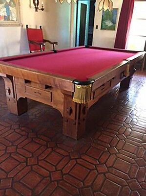 BEAUTIFUL CRAFTSMEN STYLE Full Size X Foot Pool Table With - Delmo pool table