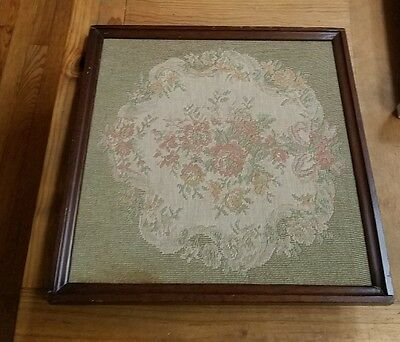 VICTORIAN POLE SCREEN WITH NEEDLEPOINT PANEL only damaged