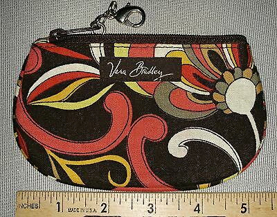 """VERA BRADLEY ID CARD/ CHANGE CASE with CLIP  """"PUCCINI PATTERN""""  NWOT"""