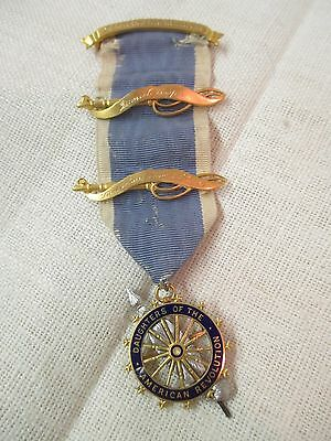 1955 Lotta Ludlow Tyler DAR Caldwell gold Medal Ribbon Stephen Decatur Chapter