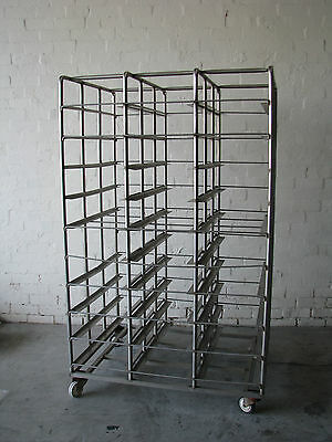 Stainless Steel Mobile Bakery Rack Trolley