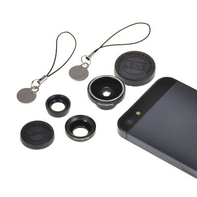 3in1 Magnetic Fish Eye+ Macro+Wide Angle Camera Lens Kit for iPhone 6 6S Samsung