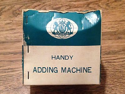 Vintage CHADWICK Handy Adding Machine Calculator Counter Made In Japan