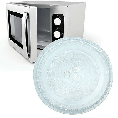 1Pc Transparent Microwave Oven Turntable Glass Tray Glass Plate Diameter: 24.5cm