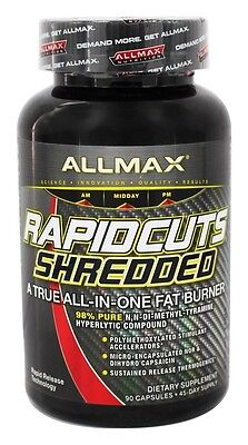 AllMax Nutrition - Rapidcuts Shredded All-In-One Fat Burner - 90 Capsules