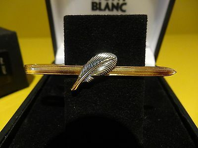 Vintage 1990's Montblanc Scriptum Feather Tie bar New Old Stock
