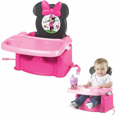 Disney Minnie Mouse Portable Foldable Baby/Child High Chair Booster Feeding Seat