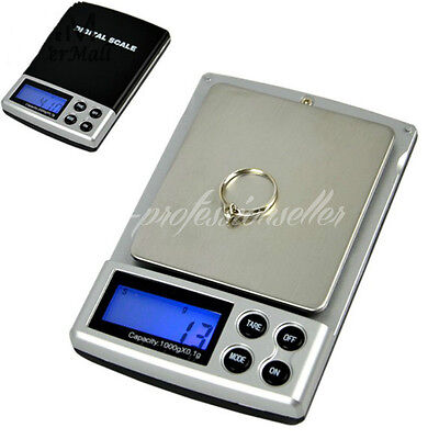 Digital Electronic Scale Balance Weighing Jewelry Gem Gold Measurement 0.1-1000G