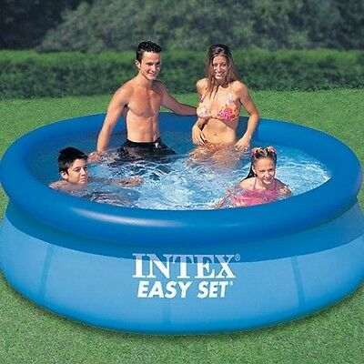 """Intex Easy Set Paddling Pool 8' x 30""""  Large Pool for Family Fun *FREE DELIVERY*"""