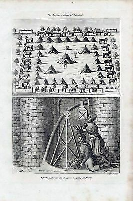 1801 Antique Military Print Ruyters Manner Of Lodging/a Trebuchet