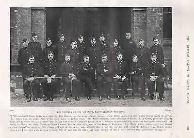 1900 BOER WAR OFFICERS OF THE 3rd ROYAL SCOTS (LOTHIAN REGIMENT)