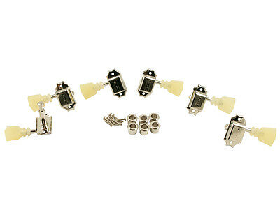 KLUSON 3x3 Nickel Double Ring Single Line Tuners For Gibson Les Paul SD90SLNDRSL