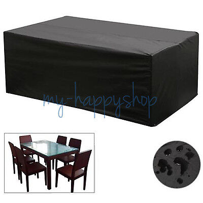 6-8 Seater Waterproof Rectangular Garden Patio Furniture Cover For Outdoor Table