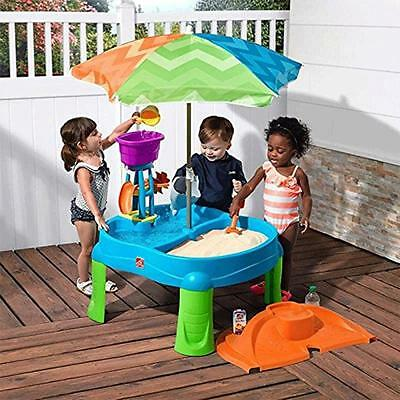 Step 2 Beachside Splash Sand and Water Table Child Toy Step2 Outdoor Kids Toy
