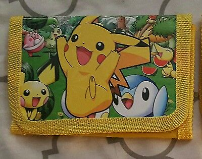 NEW Pokemon Yellow Pikachu Wallet Coin Purse Kids Children's