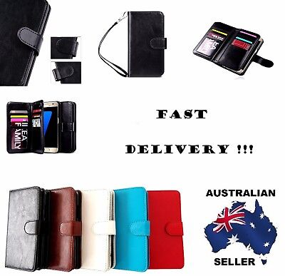 Luxury PU Genuine Leather Wallet Case Cover For Samsung Galaxy S8 & S8 Plus