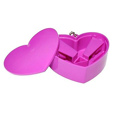 Pink Heart-Shaped Pencil Sharpener