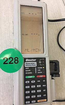 Baxter AS50 Infusion Pump Includes Charger & Pole Clamp 228