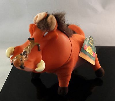 "Disney Pumbaa And Timon Lion King 7"" Plush Vinyl Toy w/ Original Tag by Applause"
