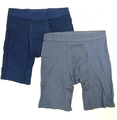 TOMMY JOHN 2-Pack BLUE/NAVY LARGE Boxer Briefs NWT!