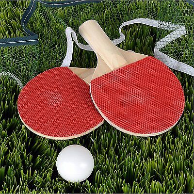 2 Players Table Tennis Set Clamps Balls Bats Net Ping Pong Racket INDOOR Sports