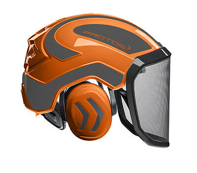Pfanner Protos Integral Forest Helm Forsthelm Schutzhelm orange-grau F 39