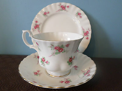 Richmond 'Rose Time' Trio, (cup, saucer, tea plate) pretty pink roses