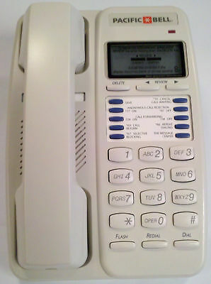 Lot of 6 NEW Pacific Bell CT15 Single Line Corded Phone with CID & Call Waiting