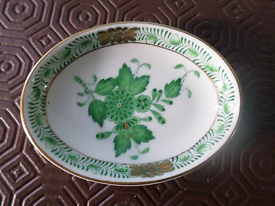 Vintage Herend 'Chinese Green' Trinket / Pin / Ring Dish