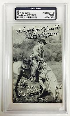 ROY ROGERS Signed Autograph Country Western Movies Encapsulated PSA/DNA