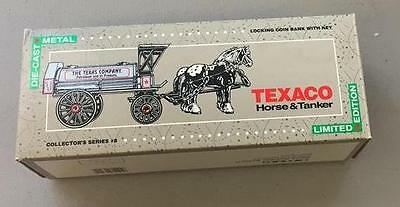 Texaco Ertl Bank Die Cast Horse And Tanker Locking With Key