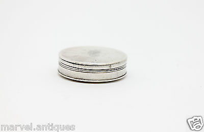 18thc Antique Sterling Silver Georgian Bright Cut Patch Box London 1799