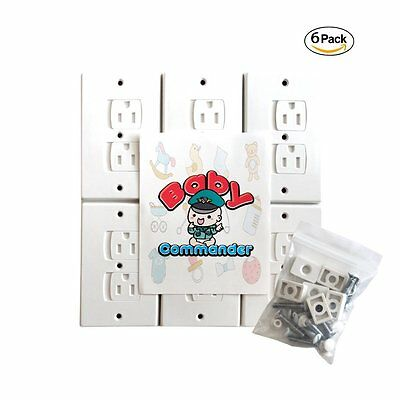Baby Commander 6 Pack Universal Electrical Outlet Covers Baby Proofing Self Wall