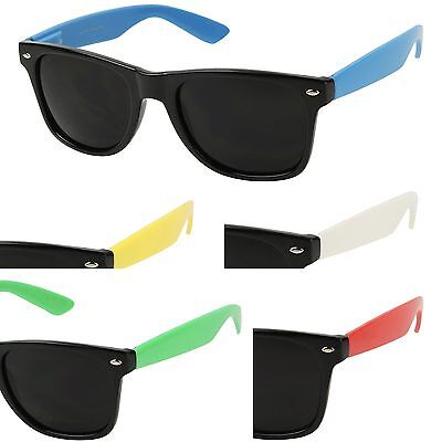 af2fb3ced4 ShadyVEU -Colorful Super Dark Black Lens Shades Retro Festival Unisex  Sunglasses
