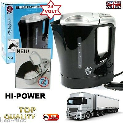 Truck HGV 24 Volt HI POWER 300W Electric Kettle 1Litre LORRY 24V DRINKS FOOD