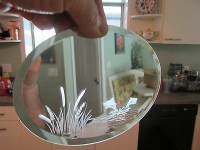 Perfect for Swarovski Oval Etched Through Display Mirror Jumping Fish Pond Mint