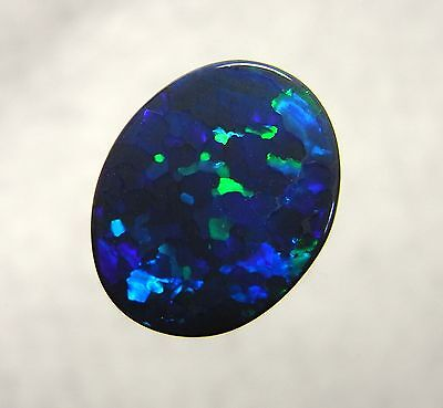 Australian Opal, Lightning Ridge Black Opal Solid Polished Natural Gemstone 8170