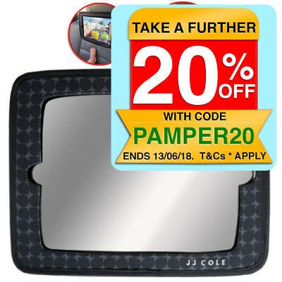 JJ Cole 2 in 1 Baby 20cm View Mirror for Car Seat Headrest/iPad Holder Safety