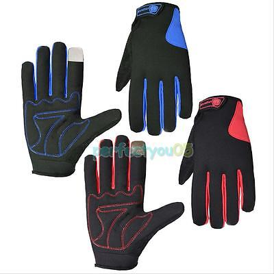 Cycling Bike Bicycle Motorcycle Sport Full Finger Mittens Touch Screen Gloves
