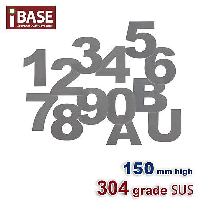 150Mm House Number Letters Numbers Letter Mail Box 304 Stainless Steel 0-9 A B U