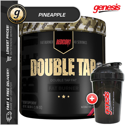 Redcon1 Double Tap Powder *40 Serves PINEAPPLE* Thermo Fat Burner + Free Shaker!