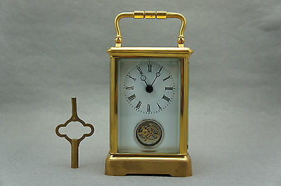 24K Gold Tourbillon Carriage Clock wz delicate leather box  promotion low price