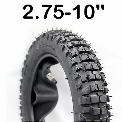 "10"" inch knobby 2.75-10 Tyre tire 3.0-10 tube dirt pit bike CRF 50 70 90 110"