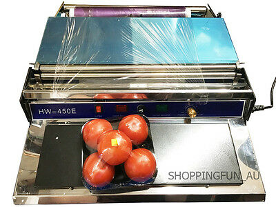 450mm Supermarket Food Tray Film Wrapping/Seal Machine